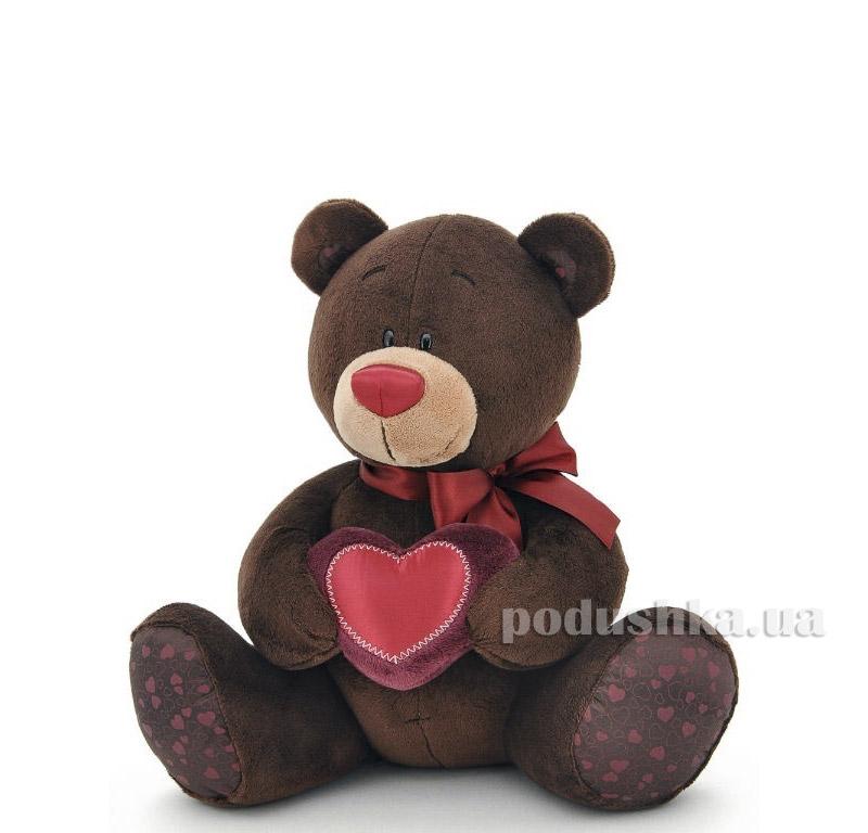 Мягкая игрушка Мишка Choco с сердцем 25 см Orange C003/25