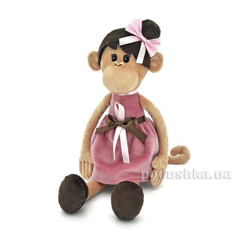 Мягкая игрушка Обезьяна Мила в платье 37 см Orange OS105/23