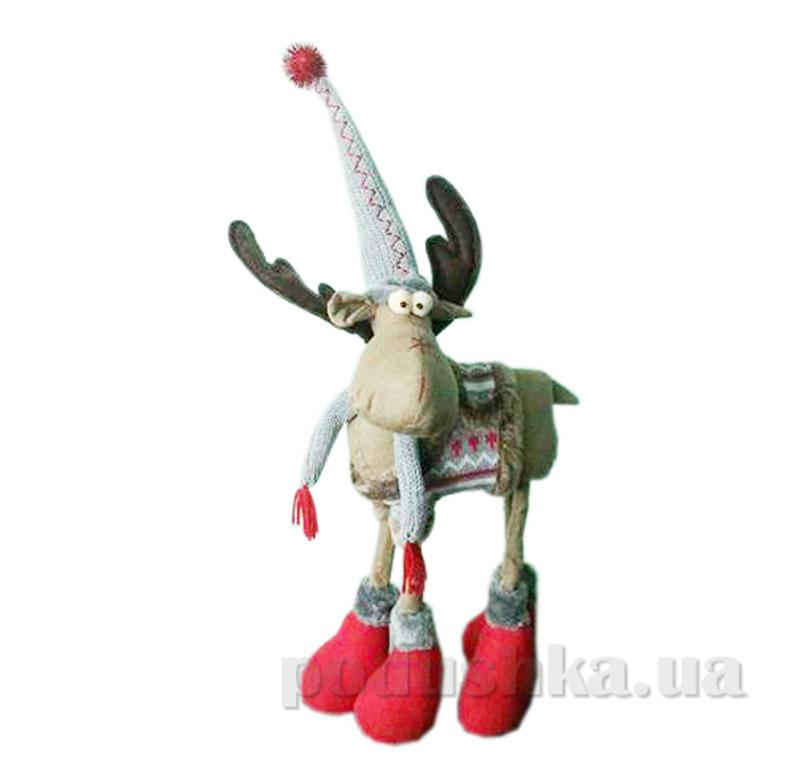 Мягкая игрушка Олень Новогодько 800996