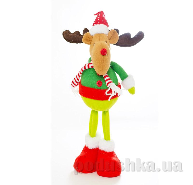 Мягкая игрушка Олень Новогодько 8800989