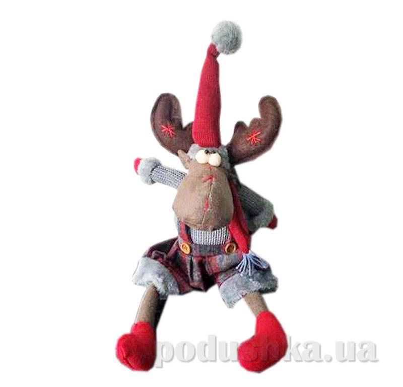 Мягкая игрушка Олень сидячий  Новогодько 801000