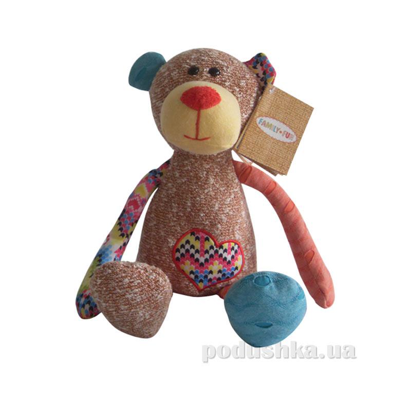 Мягкая игрушка семья Обнимашек медведь Пьер Family-Fun