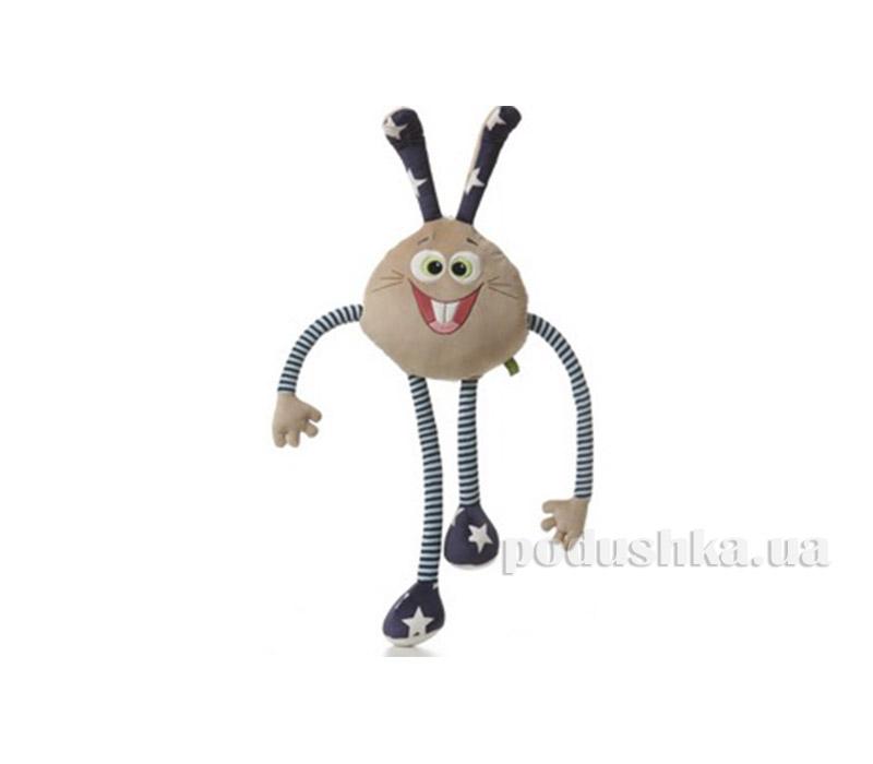 Мягкая игрушка Зайчик Смайлик Левеня К423Р