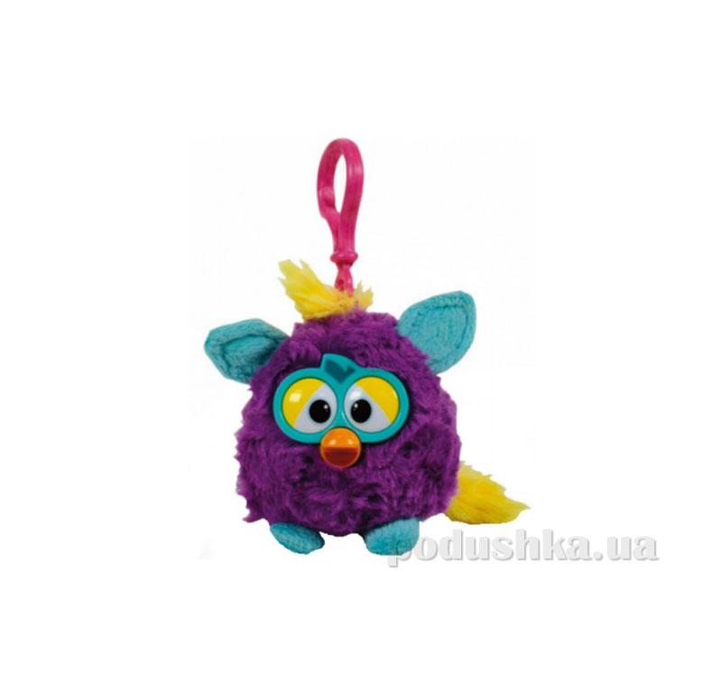 Мягкая игрушка-брелок Ферби 8 см фиолетовый с бирюзовыми ушками
