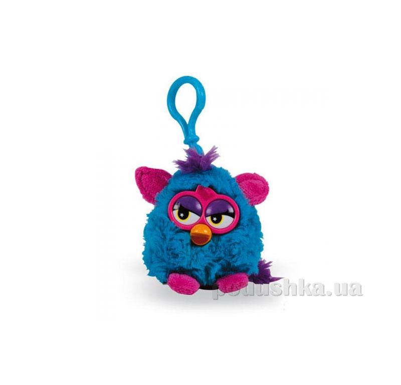 Мягкая игрушка-брелок Ферби 8 см синий с розовыми ушками