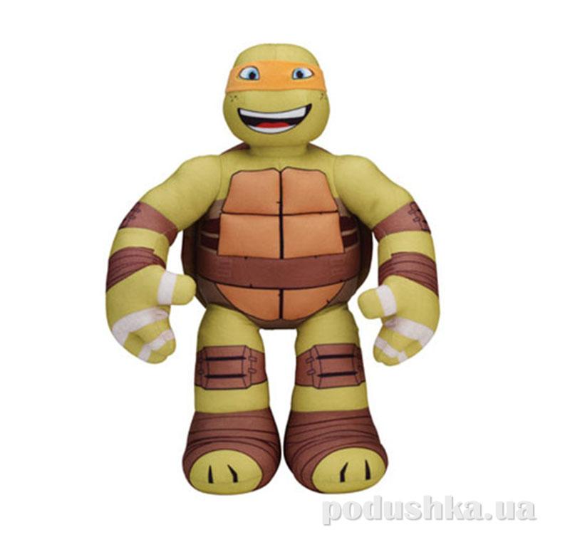 Мягкая интерактивная игрушка серии Черепашки-Ниндзя - Микеланджело (озвуч., 39 см) 95513