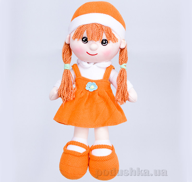 Мягкая кукла Алинка ТМ Копица 22075-3 оранжевая   Копица
