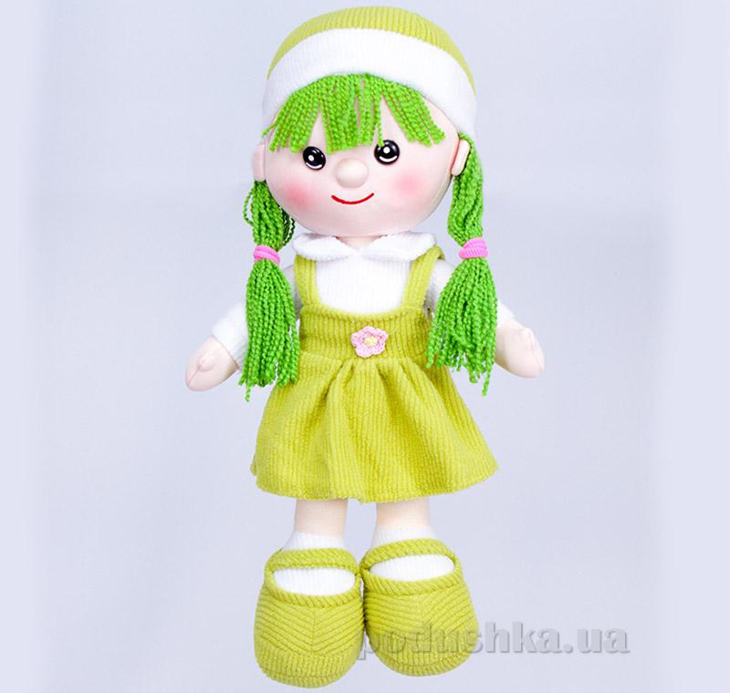 Мягкая кукла Алинка ТМ Копица 22075-3 зеленая   Копица
