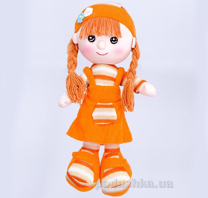 Мягкая кукла Шурочка ТМ Копица 22075 оранжевая   Копица