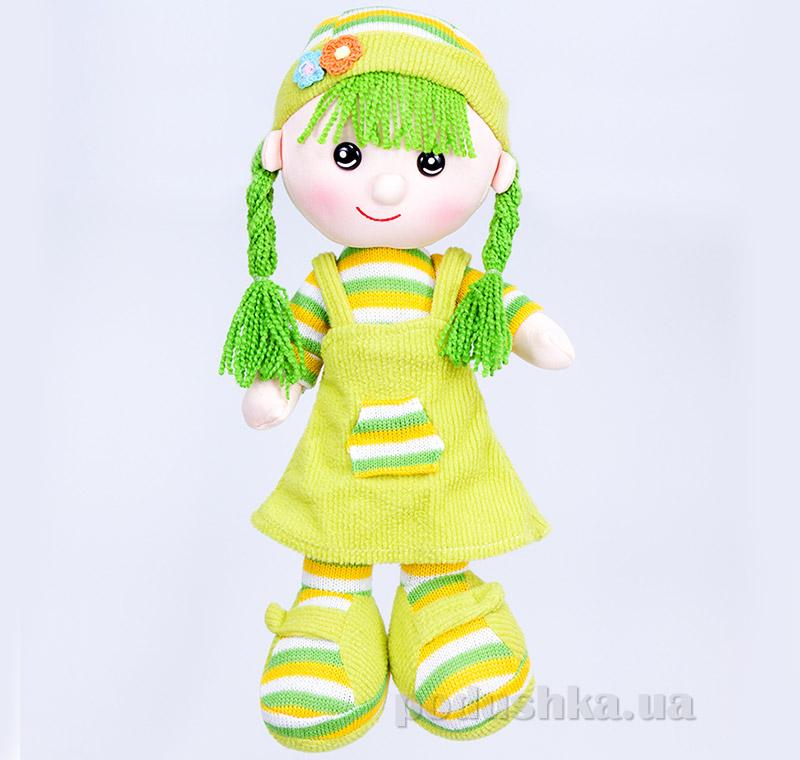 Мягкая кукла Шурочка ТМ Копица 22075 зеленая   Копица