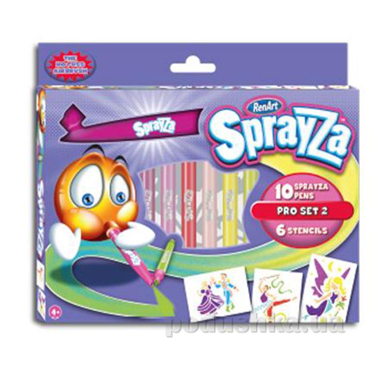 Набор 10 фломастеров и 6 трафаретов набор Girl pro серии SprayZa Renart