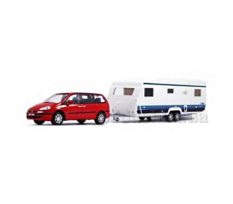 Набор 1:43 Автомобиль Peugeot 807 с прицепом Caravan Cararama