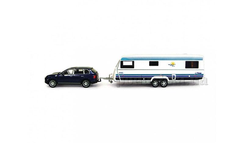 Набор 1:43 Автомобиль Porsche Cayenne S с прицепом Caravan Cararama