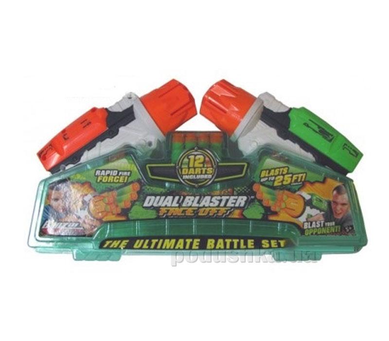 Набор: 2 игрушечных бластера Турбо Пауэр + 12 мягких дротиков