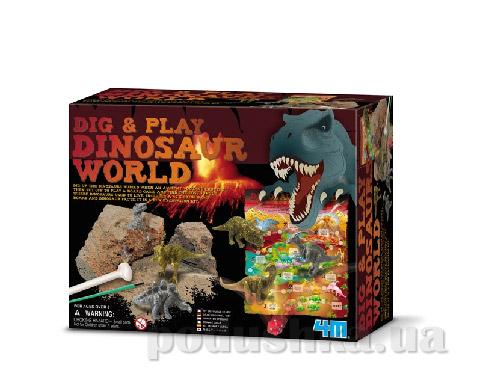 Набор 4M Джунгли с динозаврами из серии Раскопай и играй