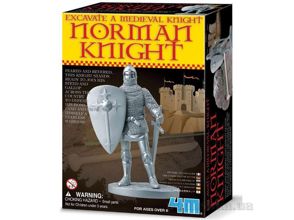 Набор 4M Раскопай средневекового рыцаря желтый