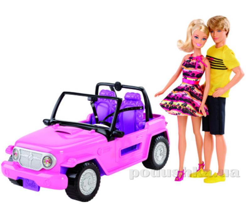 Набор Барби и Кен в джипе Barbie