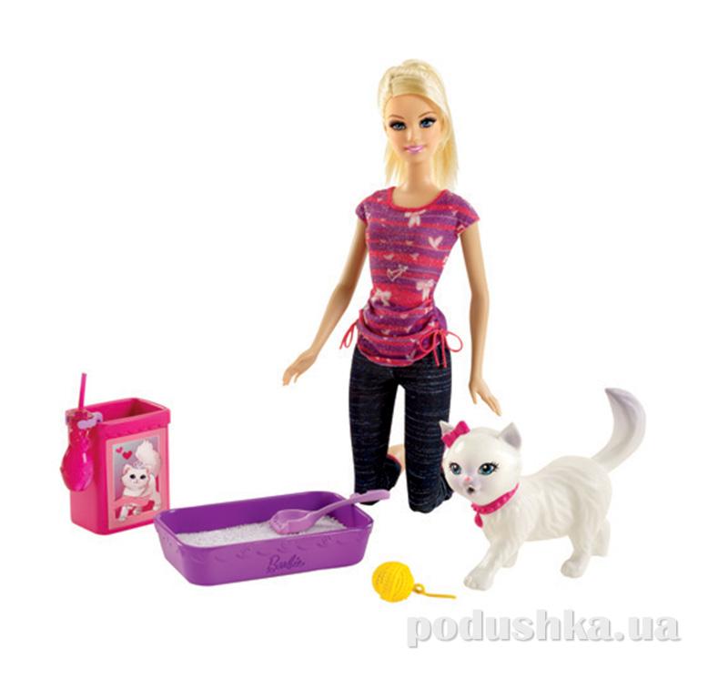 Набор Барби с кошечкой из серии Уход за домашним любимцем BDH76