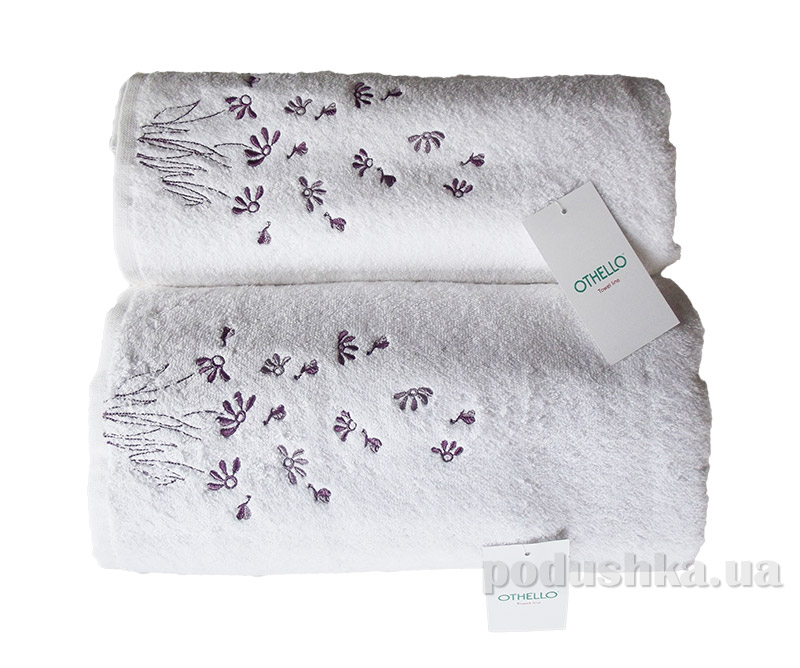 Набор белых махровых полотенец Othello Papatya разного размера