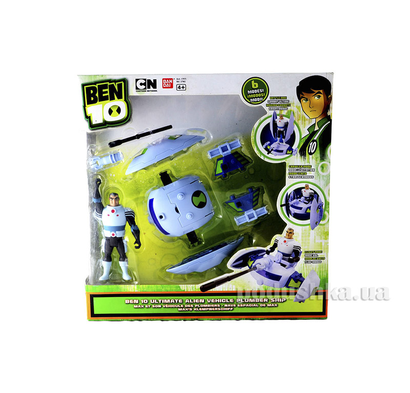 Набор Бен 10 Ultimate Alien Vehicle Plumber Ship Ben 10 37975