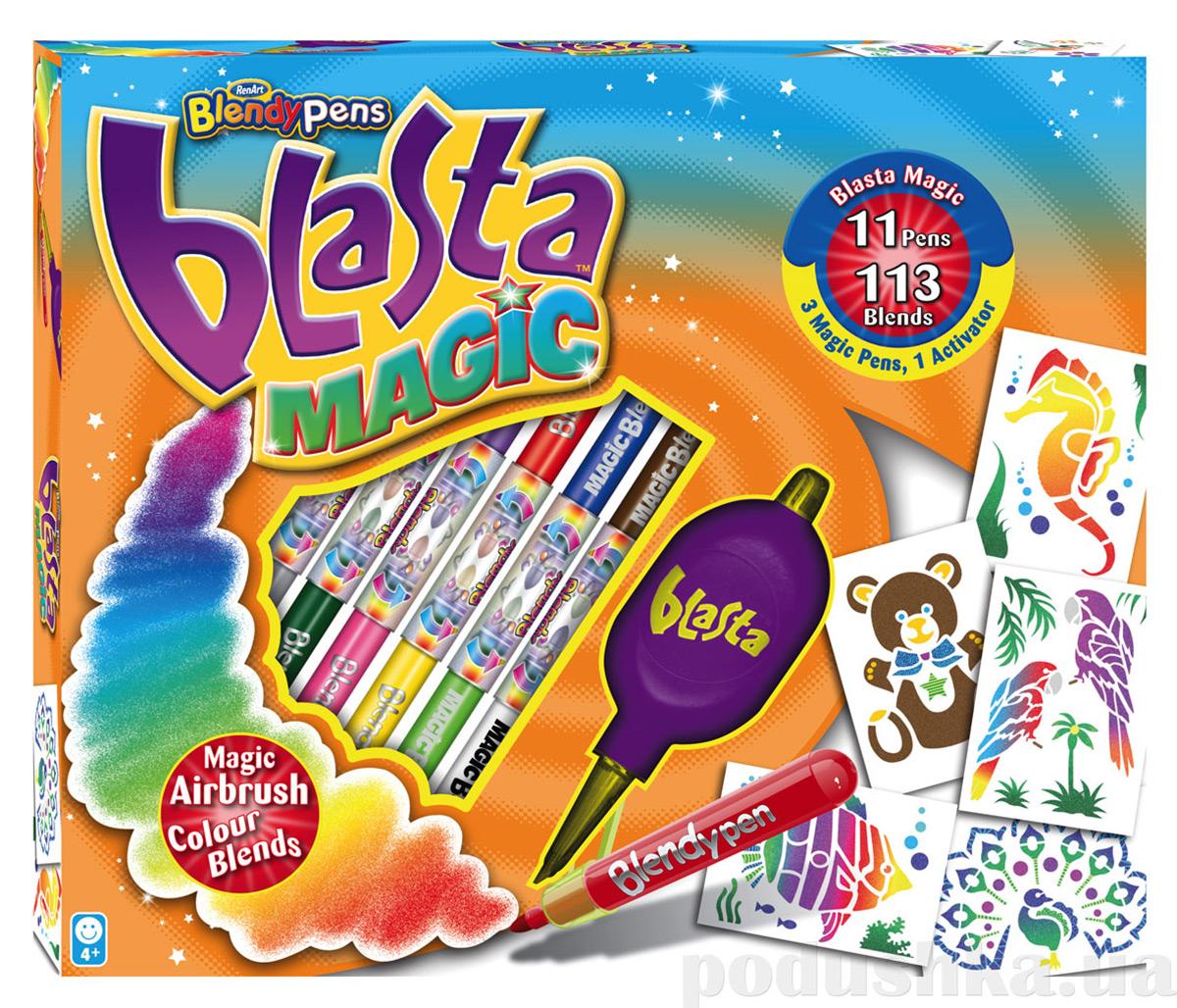 Набор Делюкс магия 8 фломастеров + 8 трафаретов Blasta Renart BL7017UK(UA)