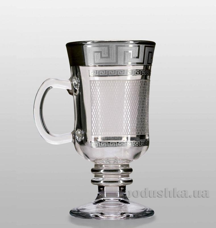 Набор бокалов для глинтвейна Venezia Karo Kostka Bohemia Sklo платина 35-18-250-4-004