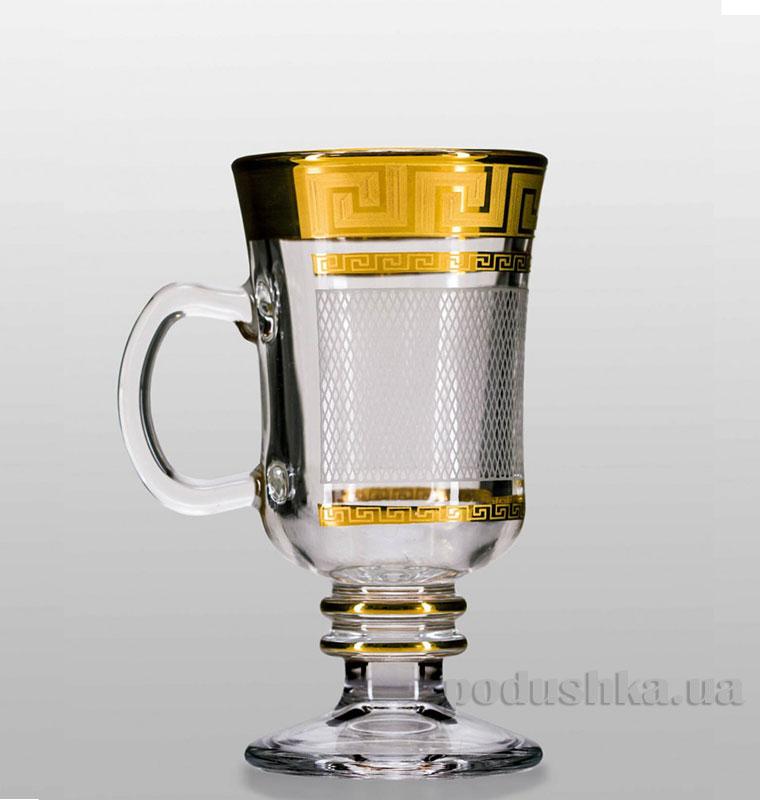 Набор бокалов для глинтвейна Venezia Karo Kostka Bohemia Sklo золото 35-18-250-4-003
