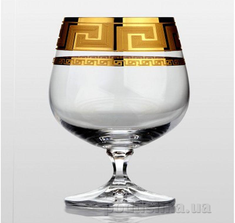 Набор бокалов для коньяка Bohemia Sklo Christine Kostka золото 6 предметов 04-06-250-6-003