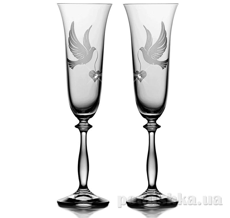 Набор бокалов для шампанского Bohemia Sklo Angela Duet 2 предмета 01-03-190-2-087