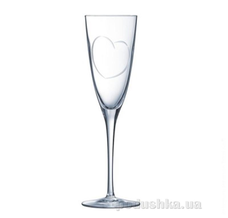 Набор бокалов для шампанского Cristal D Arques Diamax Lovely H8703