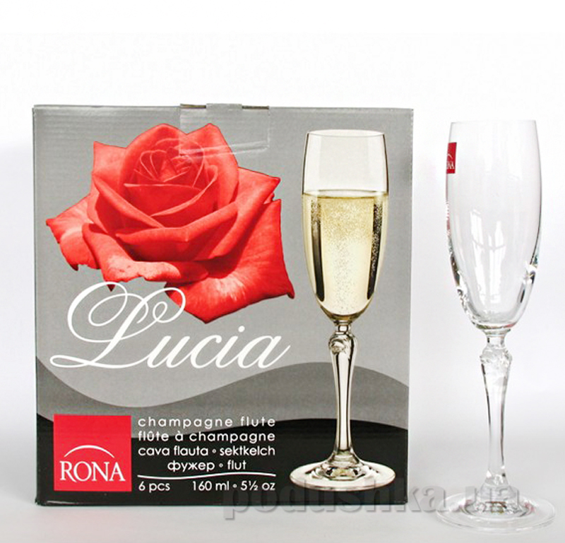 Набор бокалов для шампанского Rona Lucia 2227