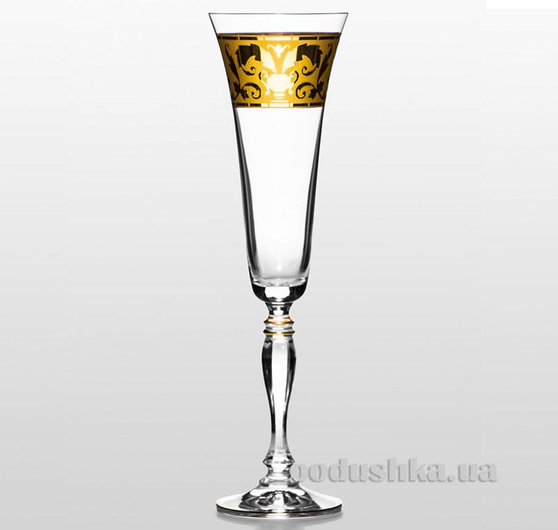 Набор бокалов для шампанского Victoria Bohemia Sklo Rene золото 02-03-180-6-013