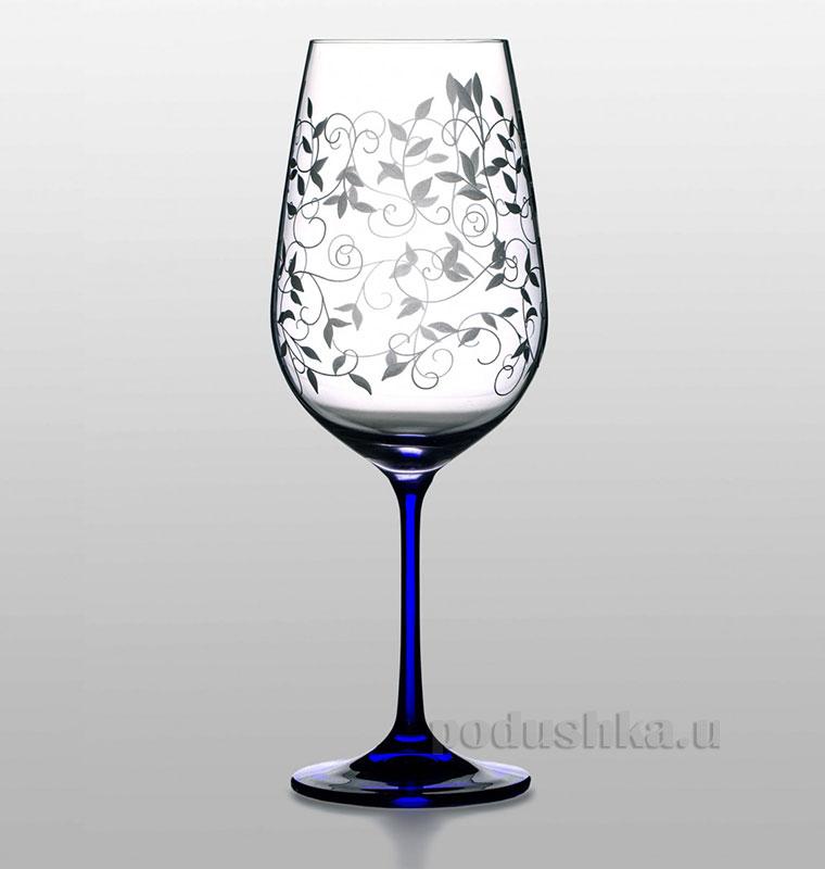 Набор бокалов для вина Viola Lido cobalt Bohemia Sklo 06-02-550-6-047