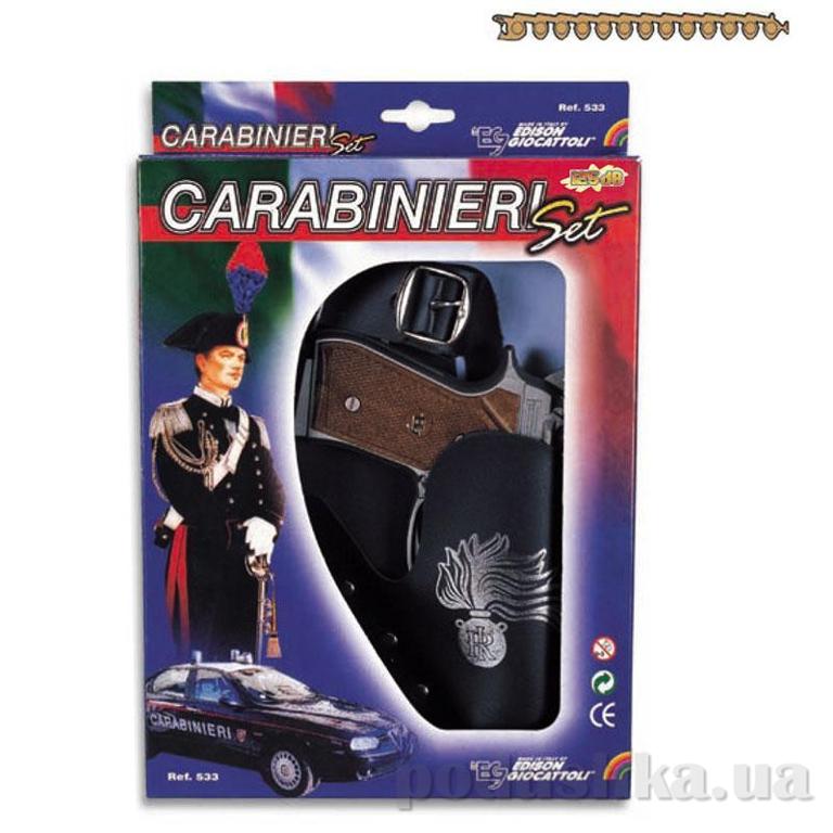 Набор Carabinieri c 13-зарядным пистолетом стреляет пистонами Edison 0533.26