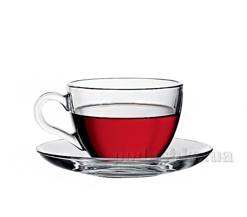 Набор чашек и блюдец для кофе Pasabahce Basic 97984