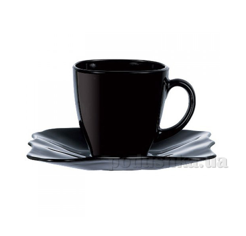 Набор чашка с блюдцем Luminarc Authentic black