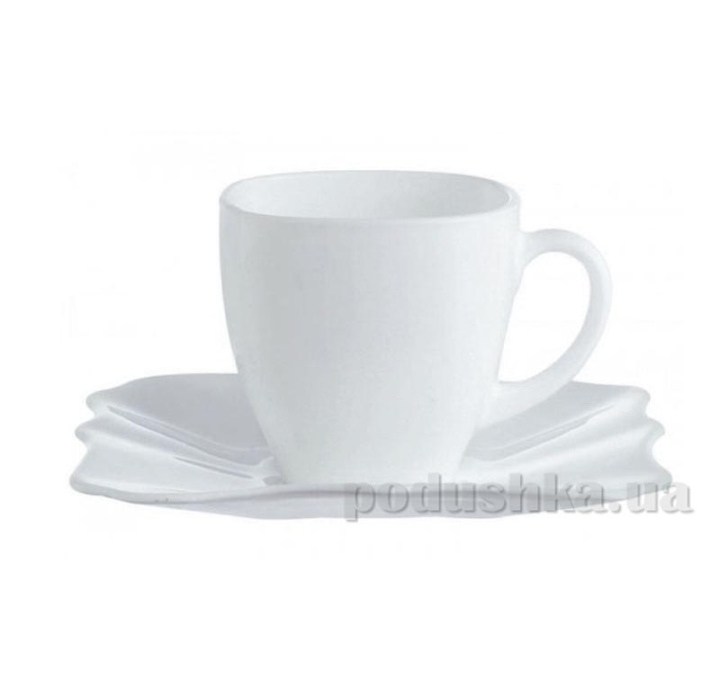 Набор чашка с блюдцем Luminarc Authentic white