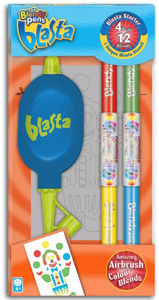 Набор Стартовый набор 4 фломастера + 1 трафарет Blasta Renart BL7018UK(UA)