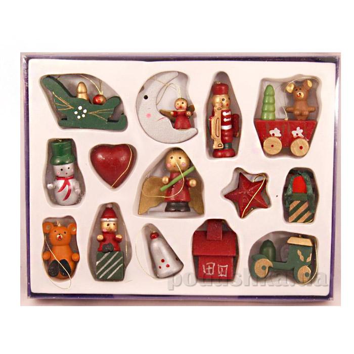 Набор деревянных новогодних фигурок Девилон 060221