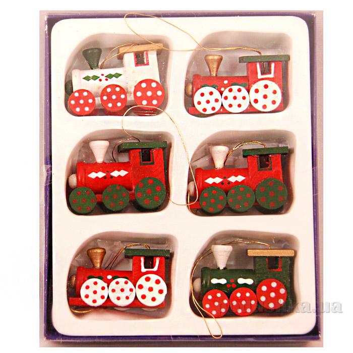 Набор деревянных паровозиков Девилон 060290
