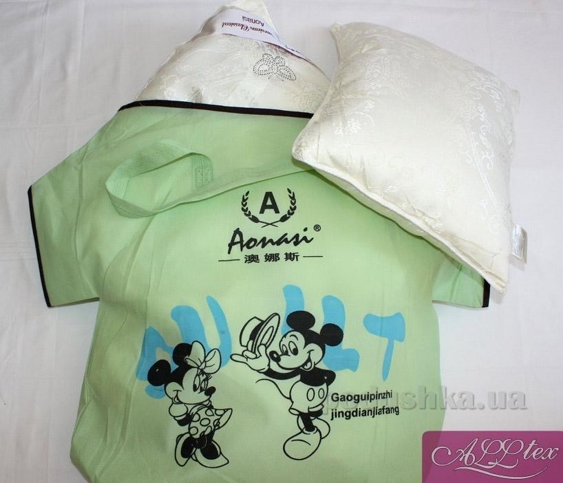 Набор детский Alltex шелк-сатин одеяло и подушка 115х145 см + подушка 35х45 см Alltex