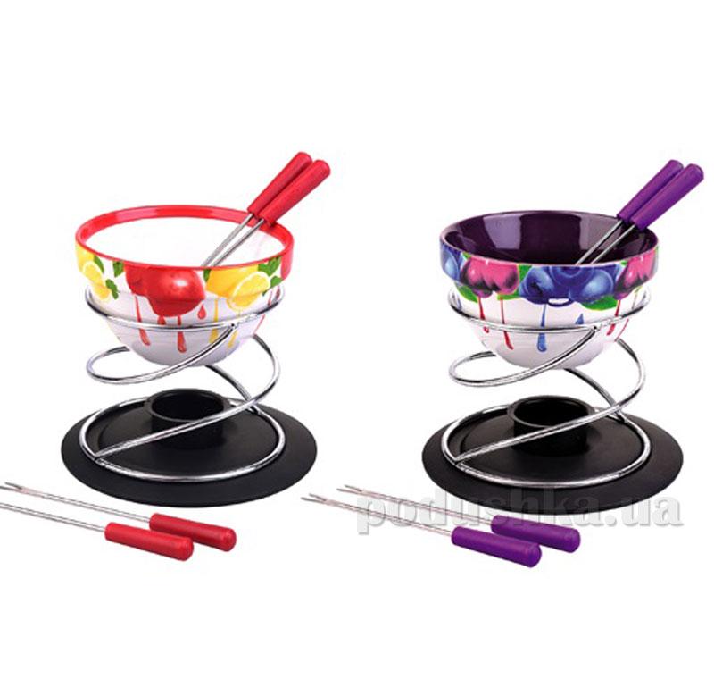 Набор для фондю Kamille AM-5503 300мл на 4 персоны  цвет фиолетовый Kamille