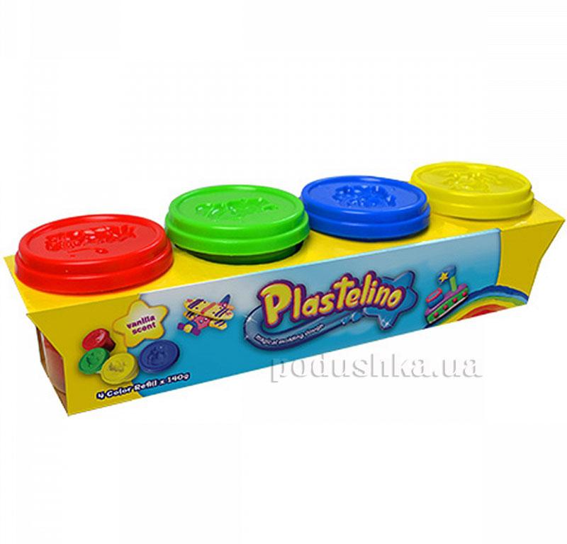 Набор для лепки Plastelino 4 цвета