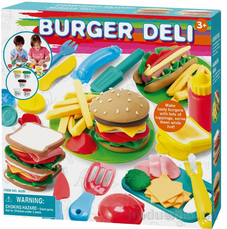Набор для лепки PlayGo Бургерная