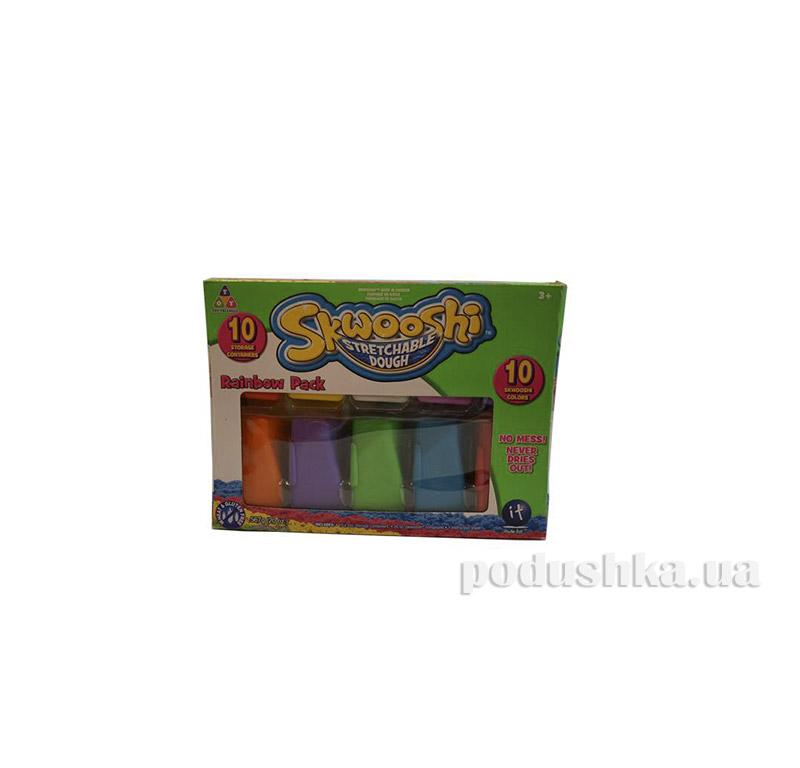 Набор для лепки Радуга 10 упаковок Skwooshi 30012