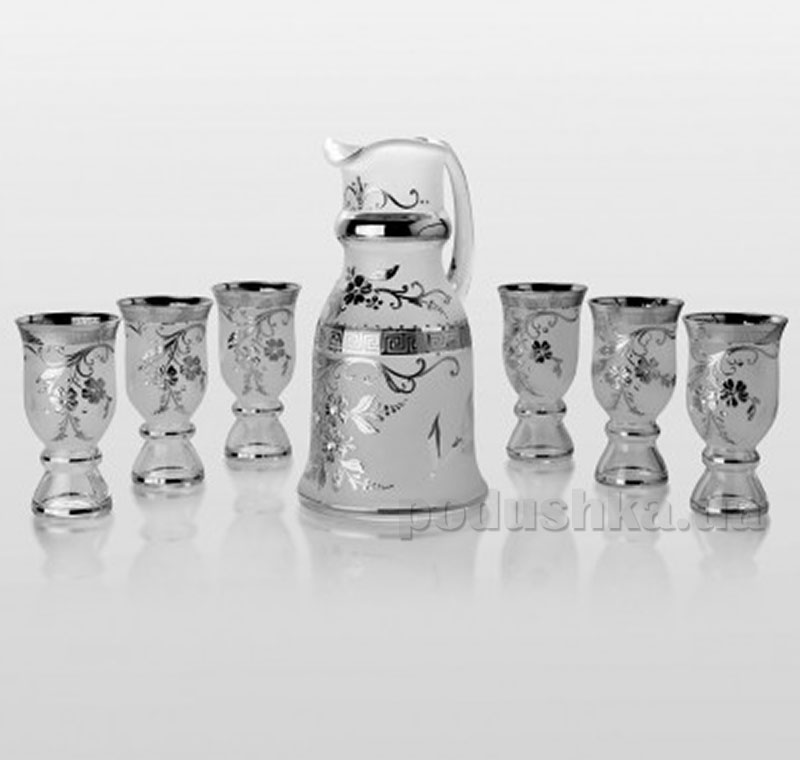 Набор для напитков Bohemia Sklo Royal Swarovski platinum 7 предметов 40-074