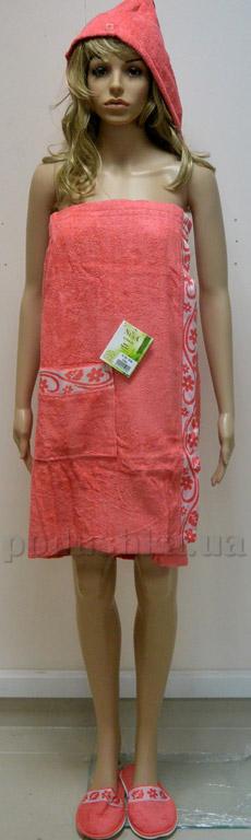 Набор для сауны женский Nusa NS-030-1 коралловый