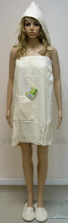 Набор для сауны женский Nusa NS-030-1 кремовый