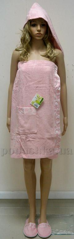 Набор для сауны женский Nusa NS-030-1 розовый