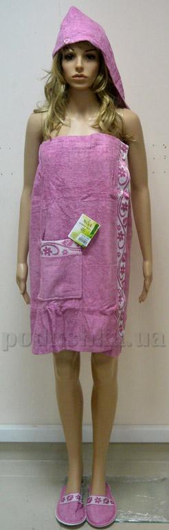 Набор для сауны женский Nusa NS-030-1 сиреневый   Nusa